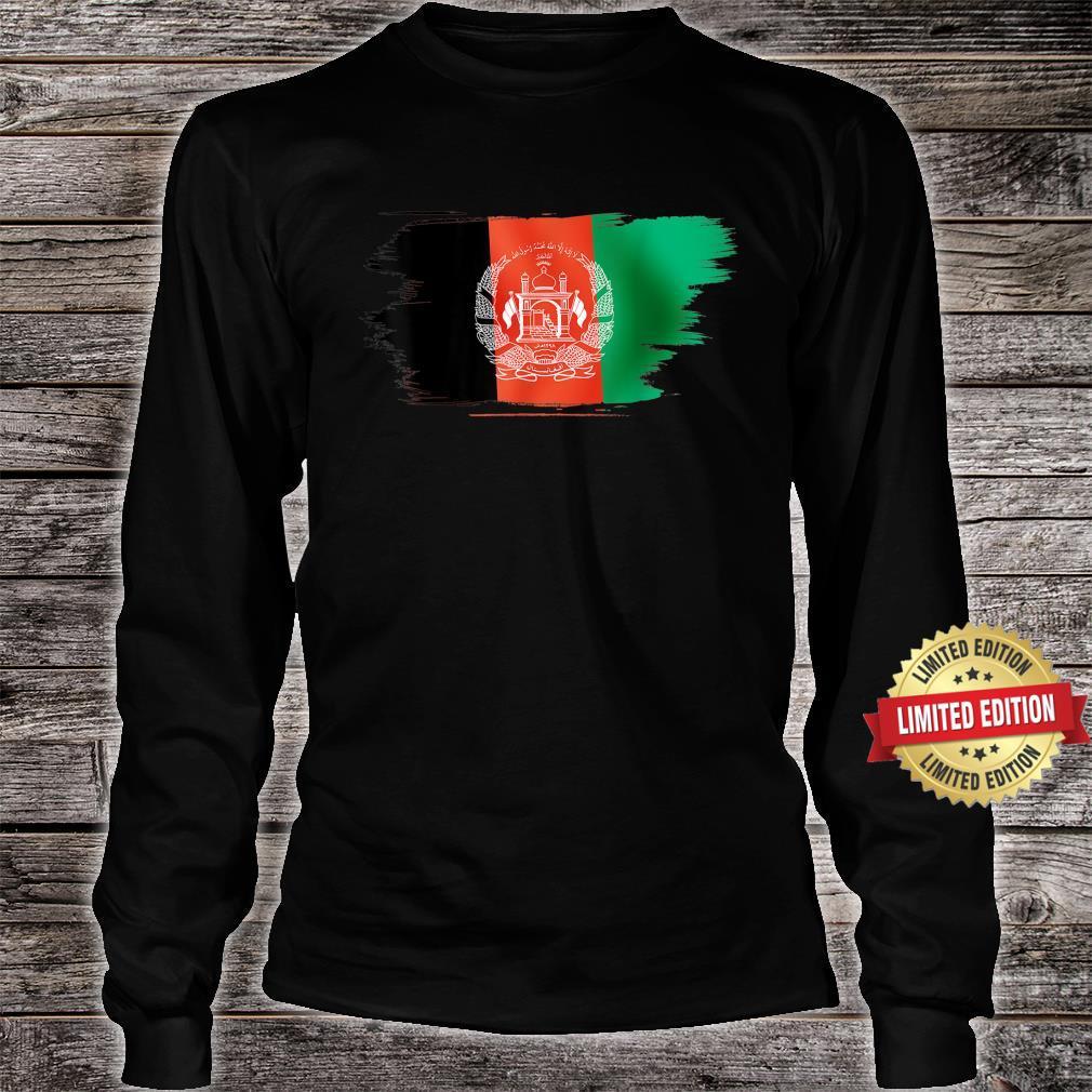 Vintage Afghanistan Afghan Flag United state Support Shirt long sleeved