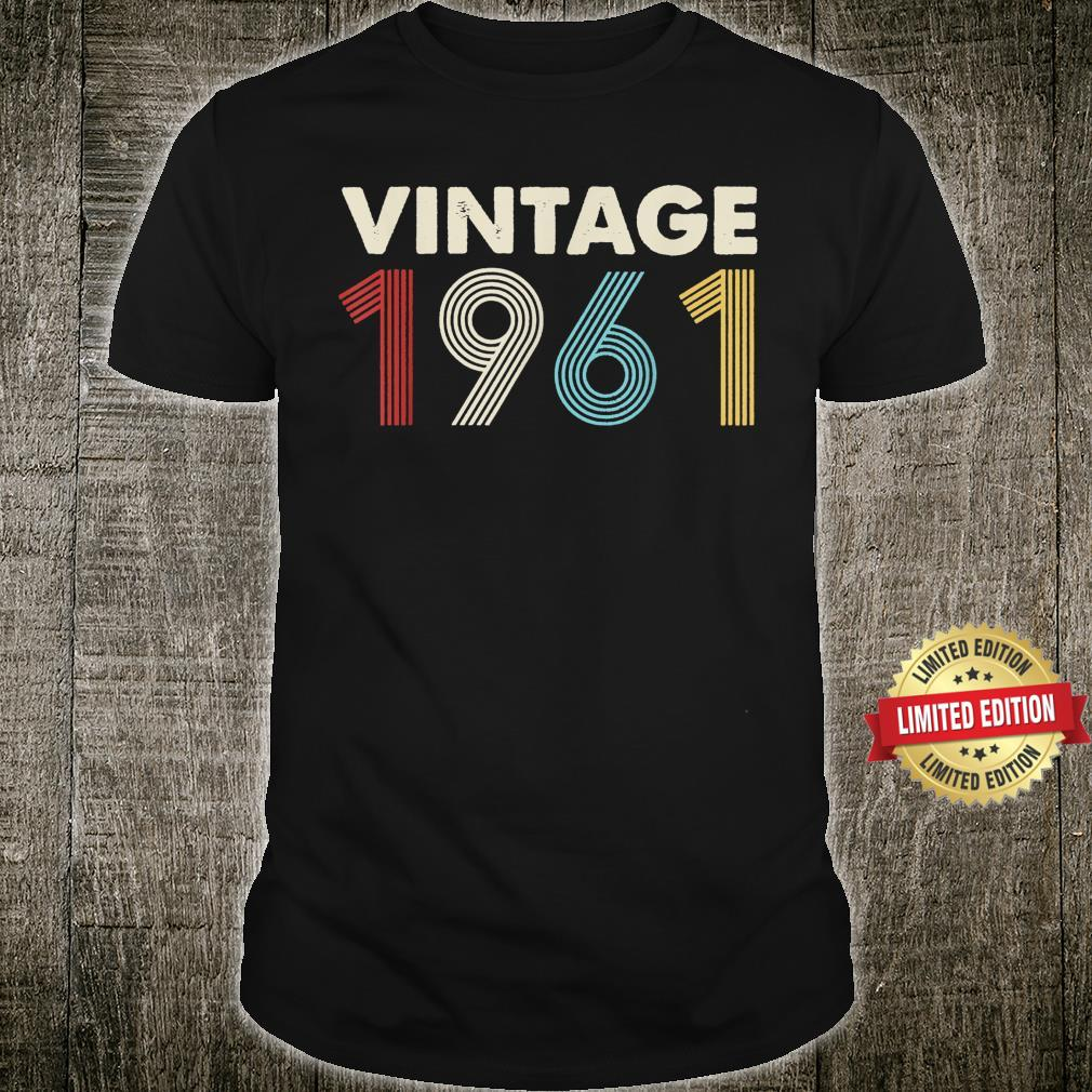 Vintage Birthday Crew Party 60th Birthday Retro 1961 Shirt