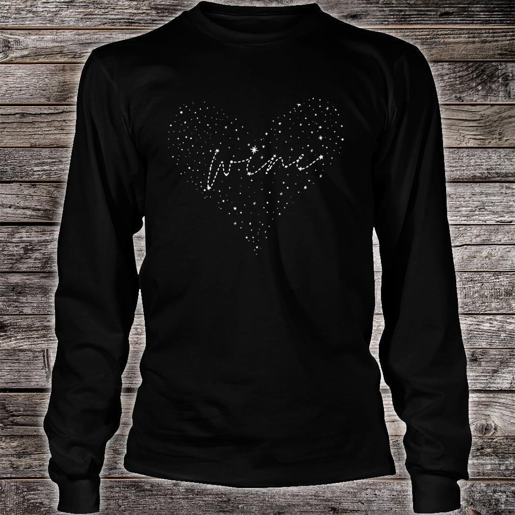 Wine & Astronomy Constellation Heart Shirt long sleeved