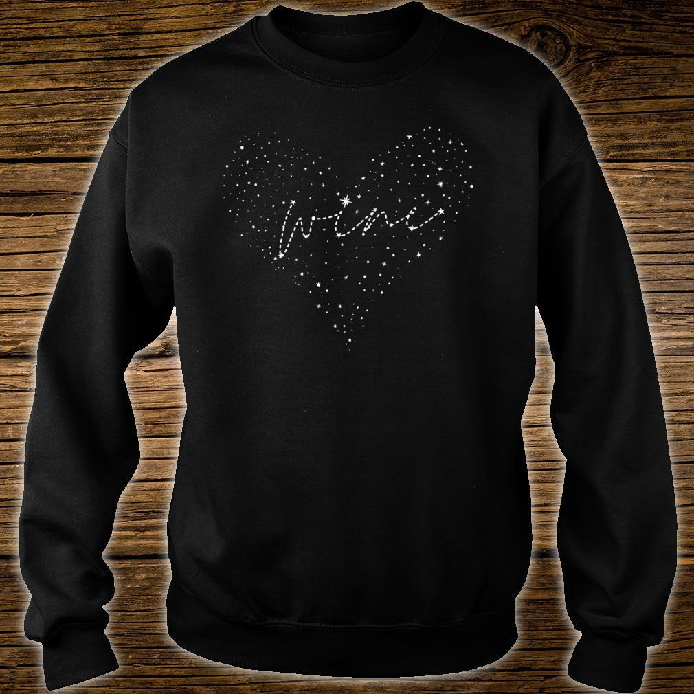Wine & Astronomy Constellation Heart Shirt sweater