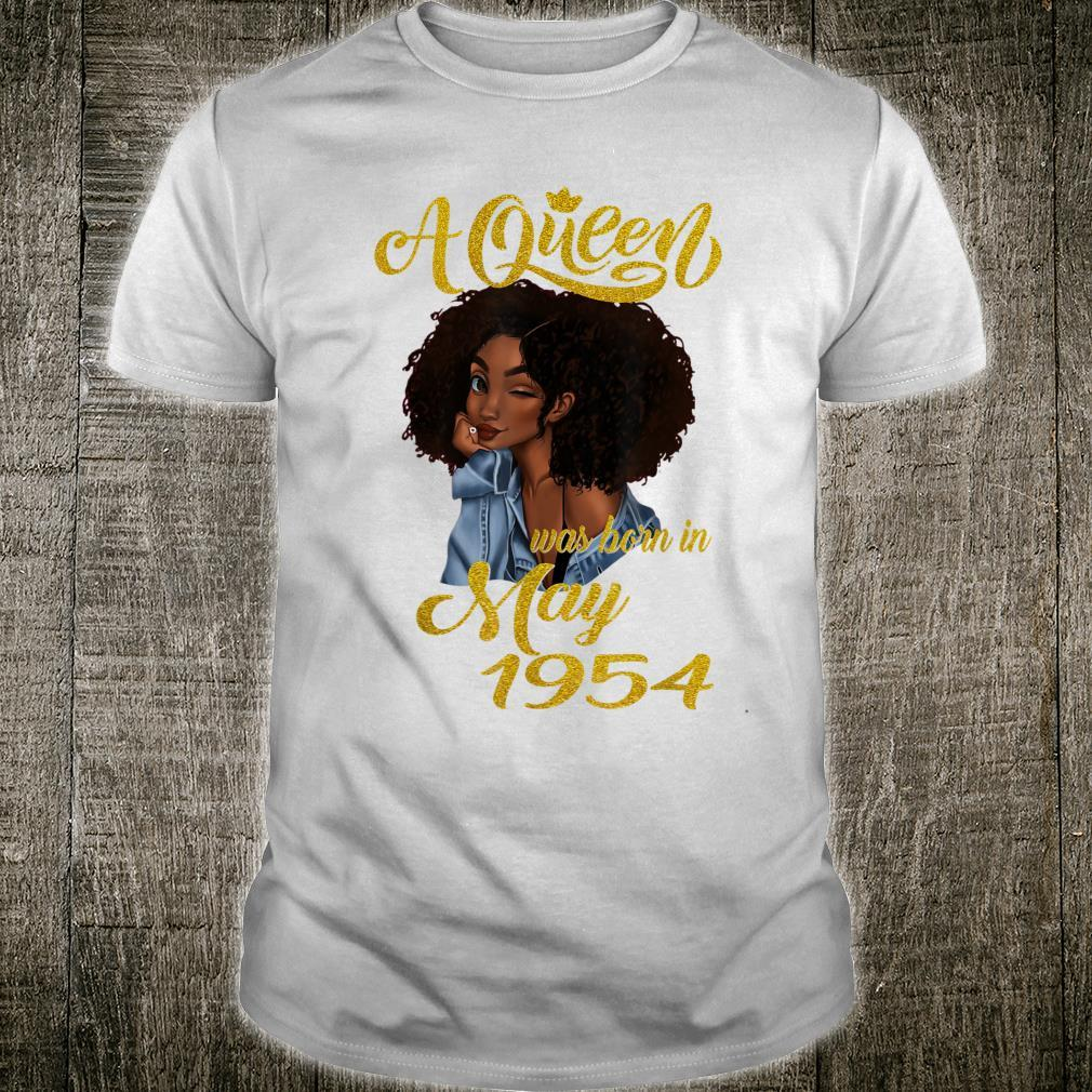 A Queen Was Born in May 1954 67th Birthday Shirt