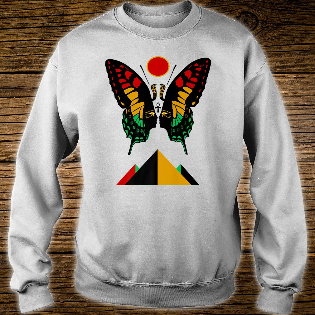 Ancient Egyptian Symbol Rasta Butterfly And Pyramids Shirt sweater