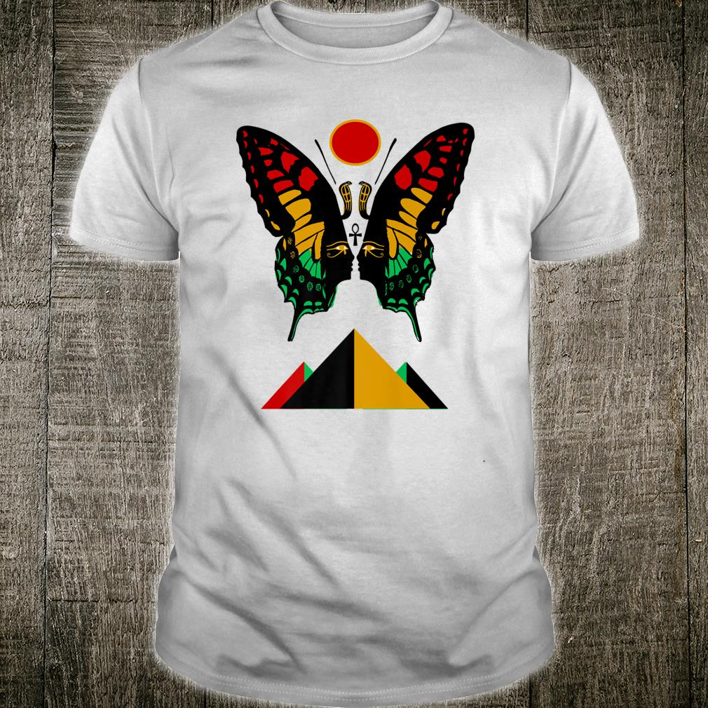 Ancient Egyptian Symbol Rasta Butterfly And Pyramids Shirt