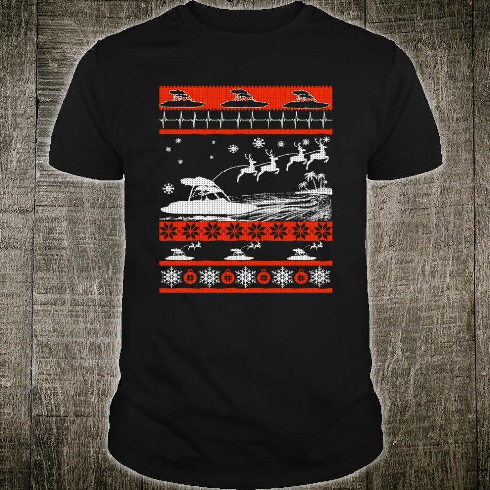 Boating Reindeer Christmas Ugly Sweater Shirt