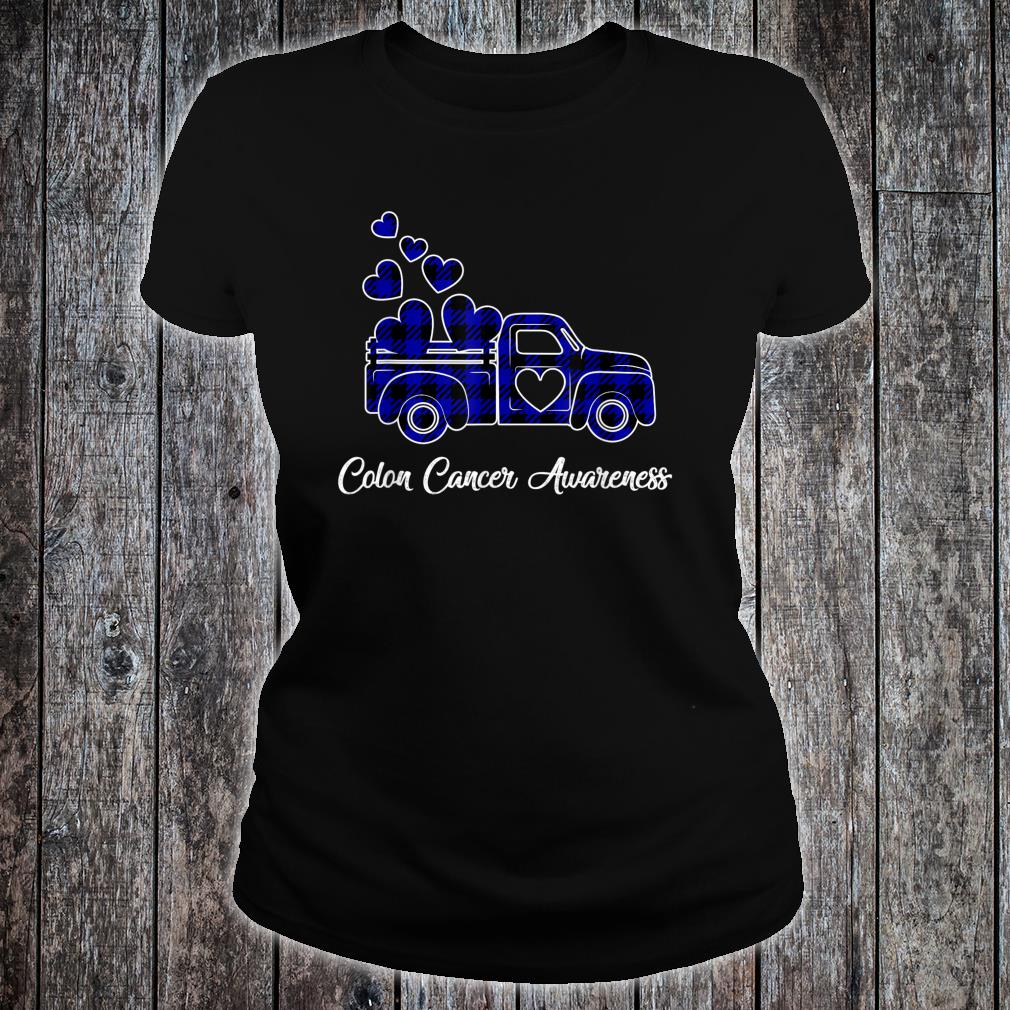 Official Cute Colon Cancer Awareness Month Costume Truck Ribbon Shirt Hoodie Tank Top And Sweater