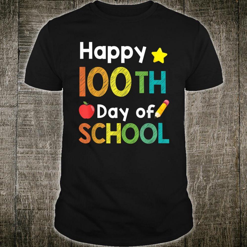 Cute Happy 100th Day of School Shirt