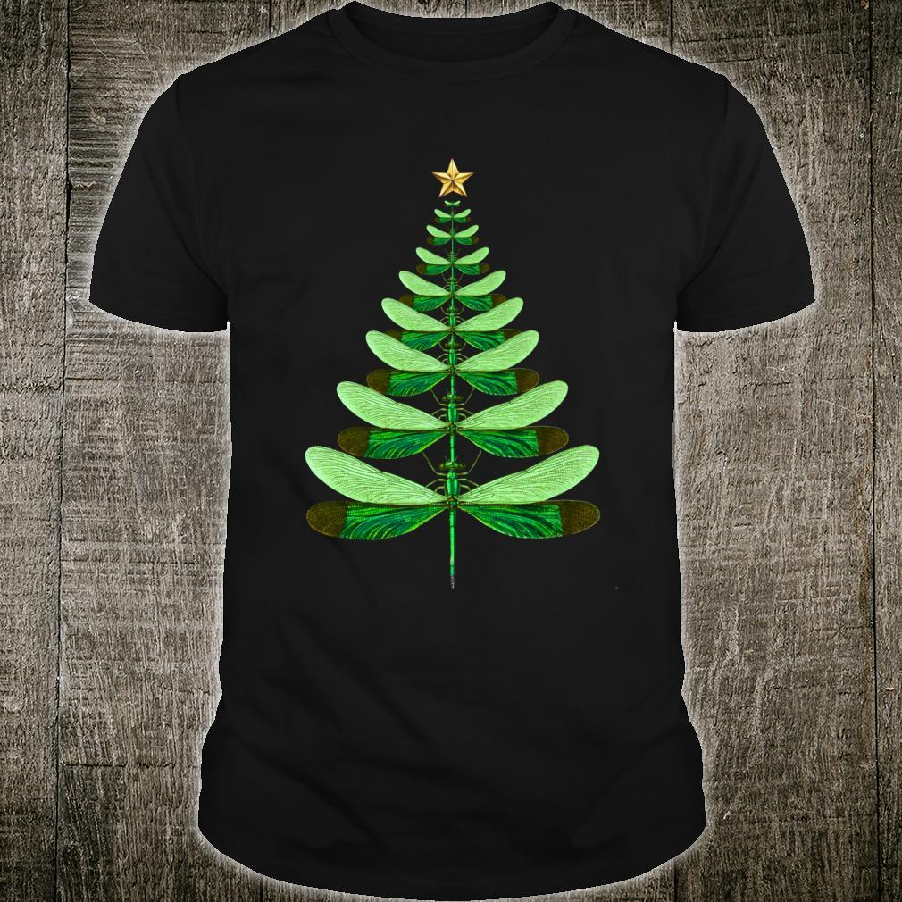 Dragonfly Christmas Tree Xmas Dragonflies Bugs Insects Shirt