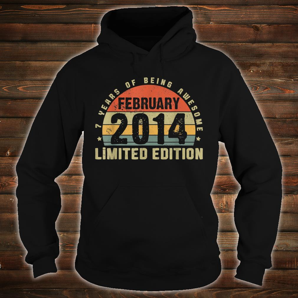 February 2014 Limited Edition Outfit Retro 7th Bday Shirt hoodie