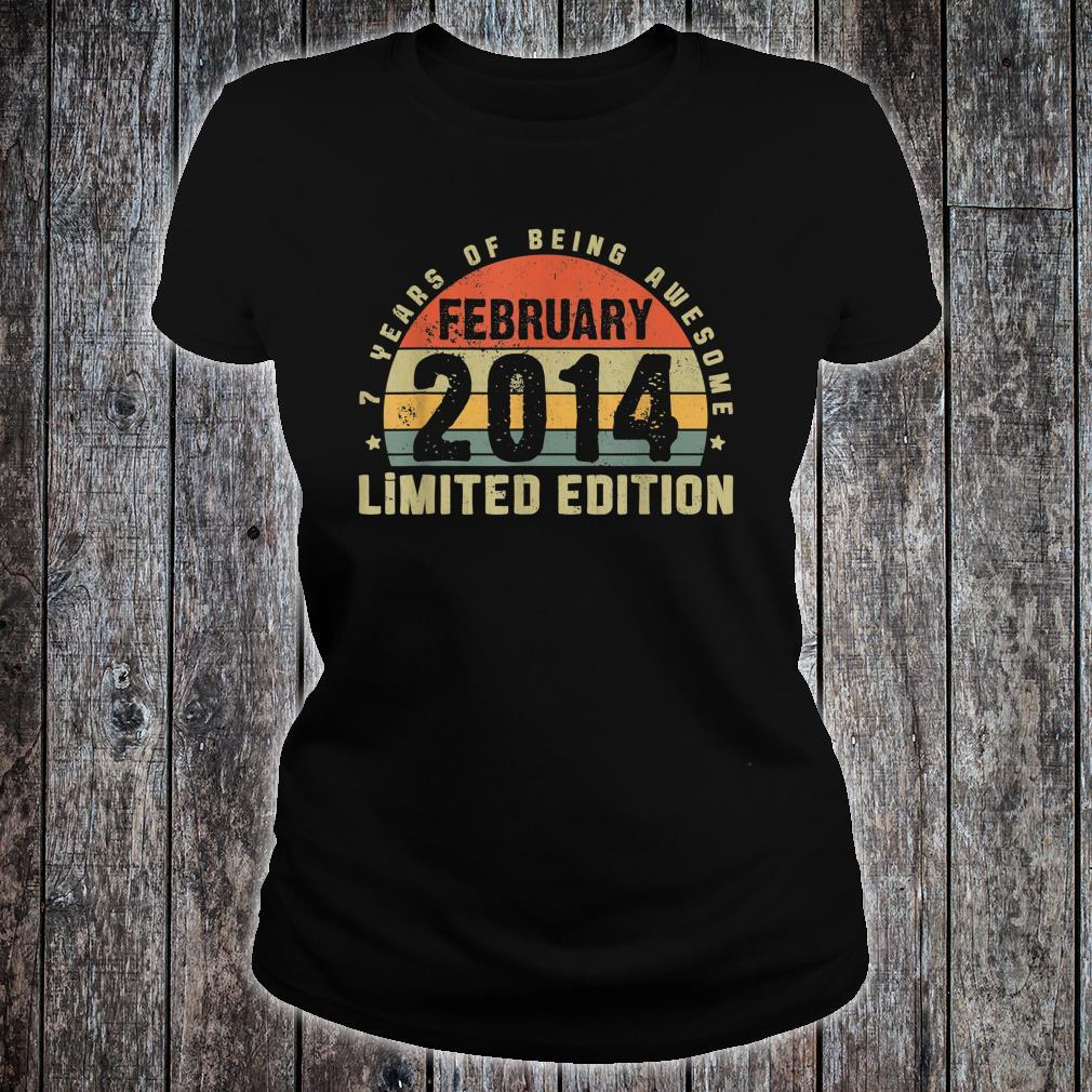 February 2014 Limited Edition Outfit Retro 7th Bday Shirt ladies tee