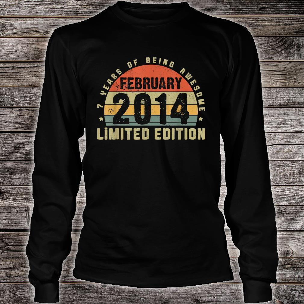 February 2014 Limited Edition Outfit Retro 7th Bday Shirt long sleeved