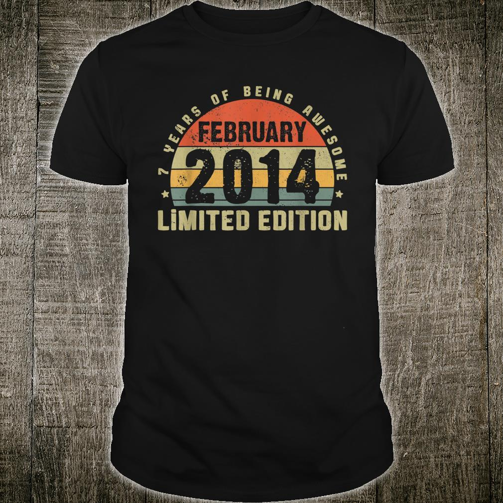 February 2014 Limited Edition Outfit Retro 7th Bday Shirt