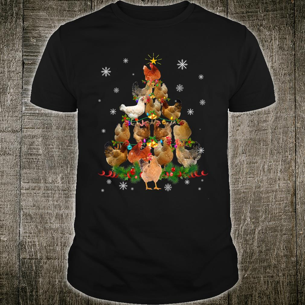 Funny Chicken Christmas Tree Pet Chicken Christmas Shirt