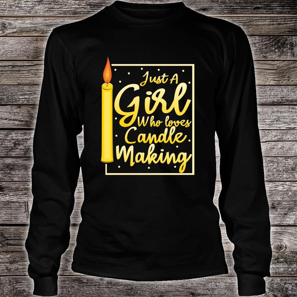 Girl Loves Candle Making Candle Maker Candle Shirt long sleeved