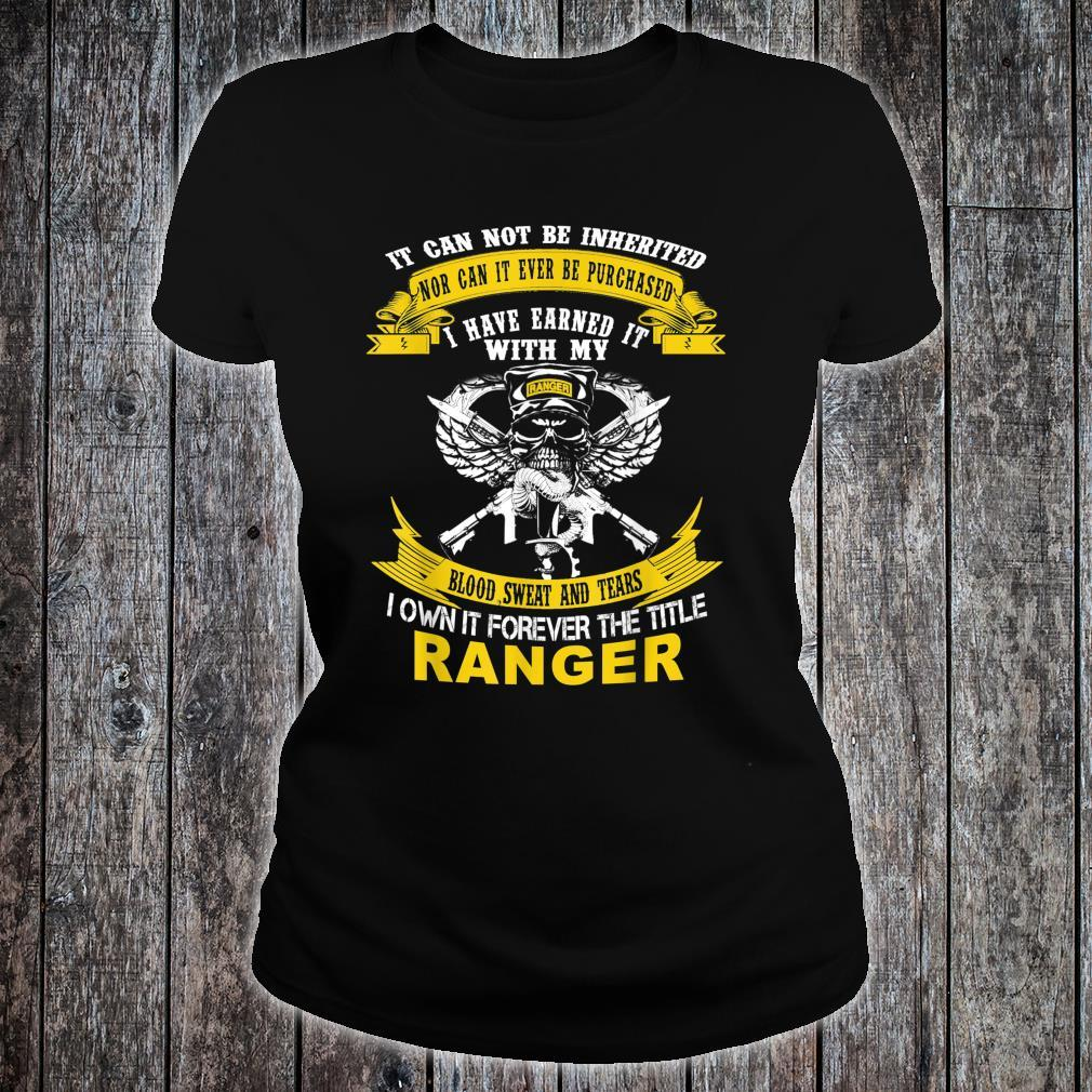 I Own It Forever The Title US Army Ranger Veteran Shirt ladies tee