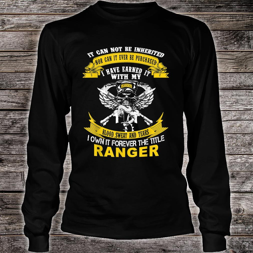 I Own It Forever The Title US Army Ranger Veteran Shirt long sleeved
