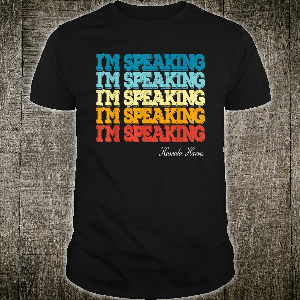 Kamala Harris I'm Speaking US VP President Debate Shirt