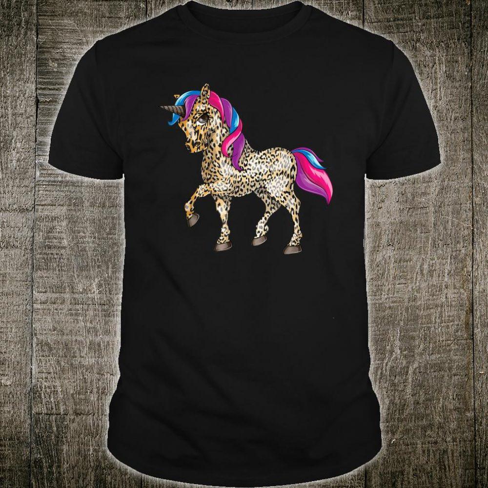 Leopard Print Unicorn Shirt