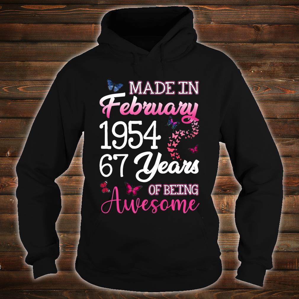 Made In February 1954 Birthday 67th Years Of Being Awesome Shirt hoodie