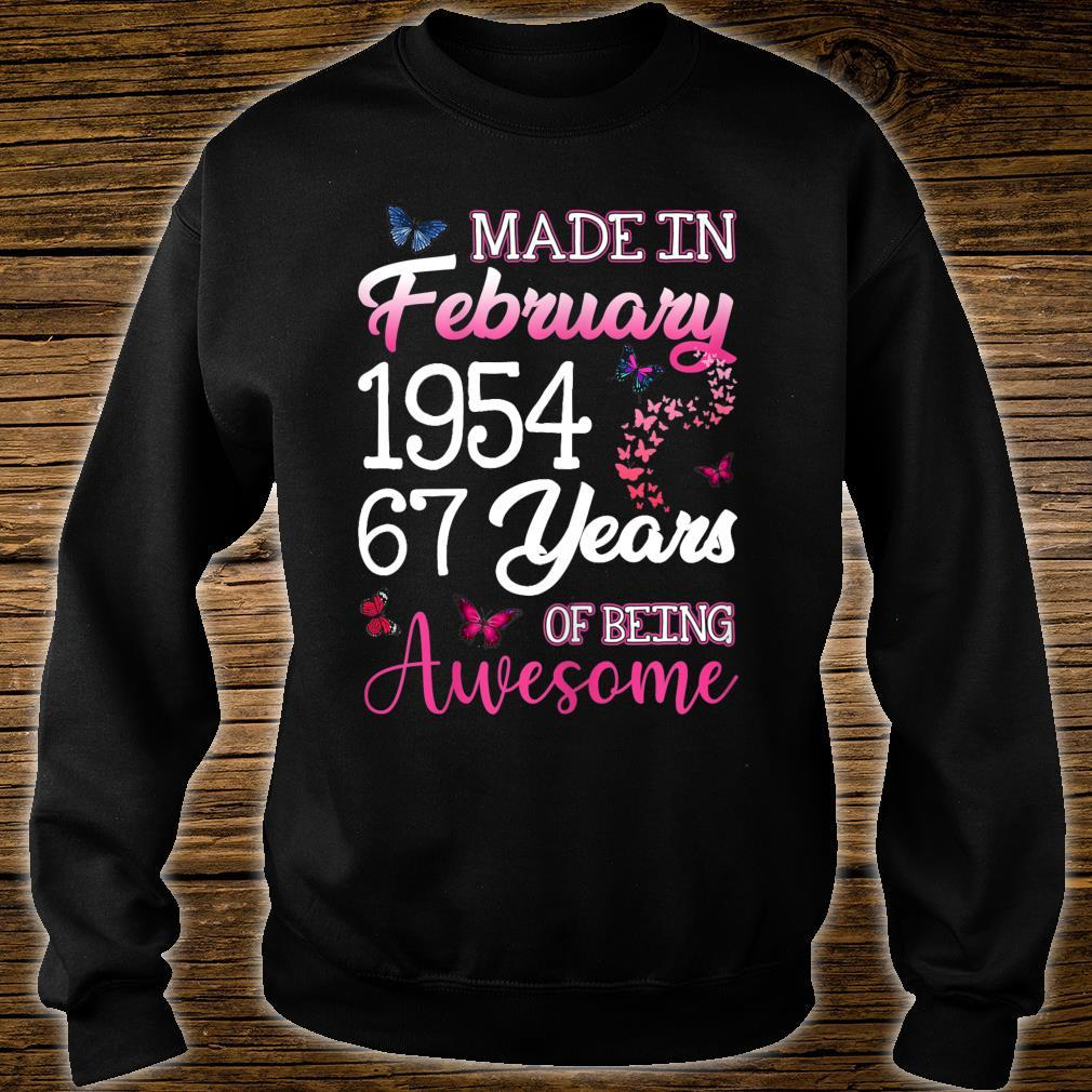 Made In February 1954 Birthday 67th Years Of Being Awesome Shirt sweater