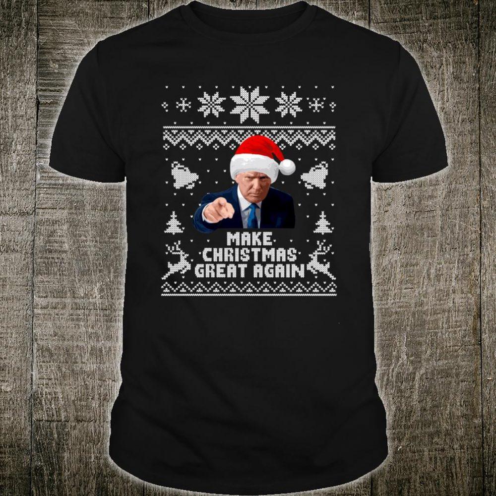Make Christmas Great Again Donald Trump Holiday Shirt