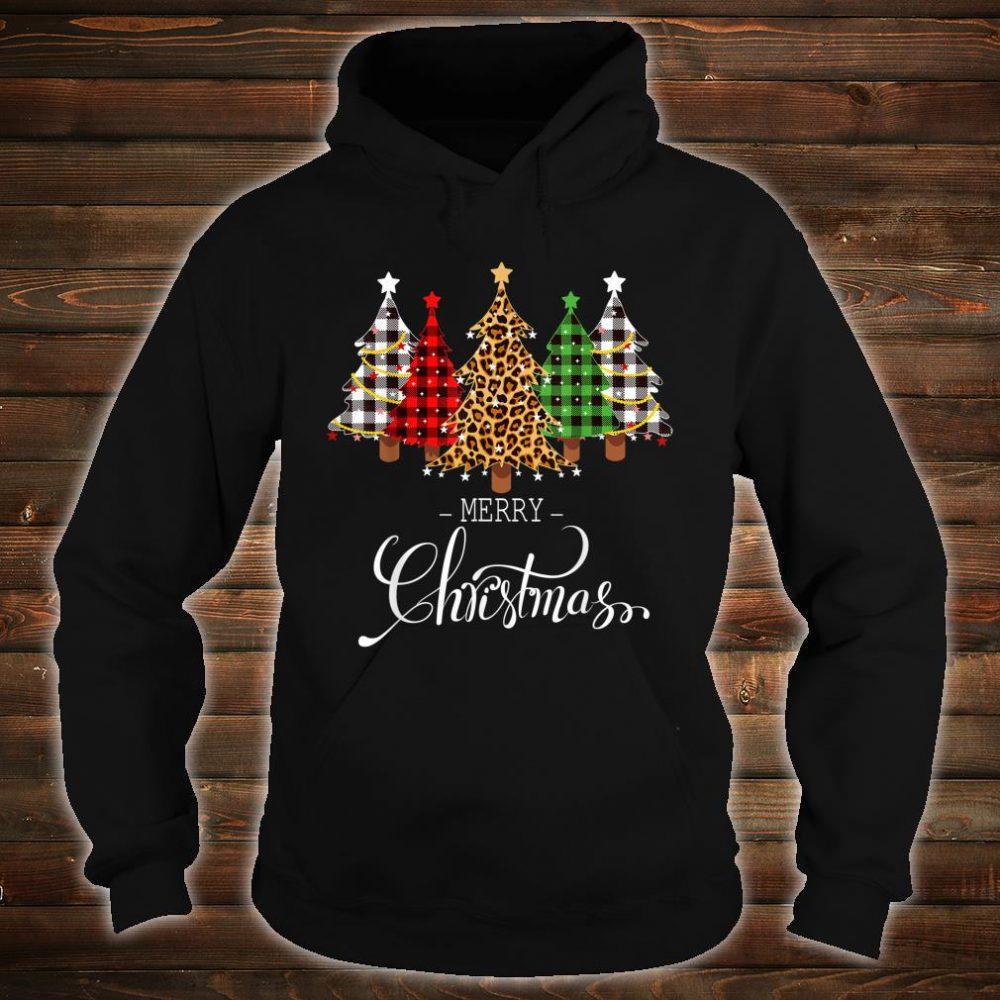 Merry Christmas Trees with Buffalo Plaid & Leopard Vintage Shirt hoodie