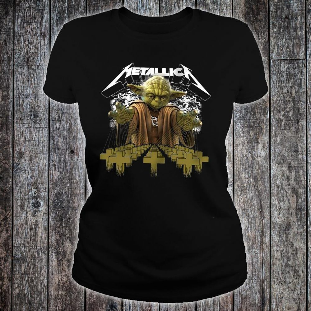 Metallica Yoda Star Wars shirt ladies tee