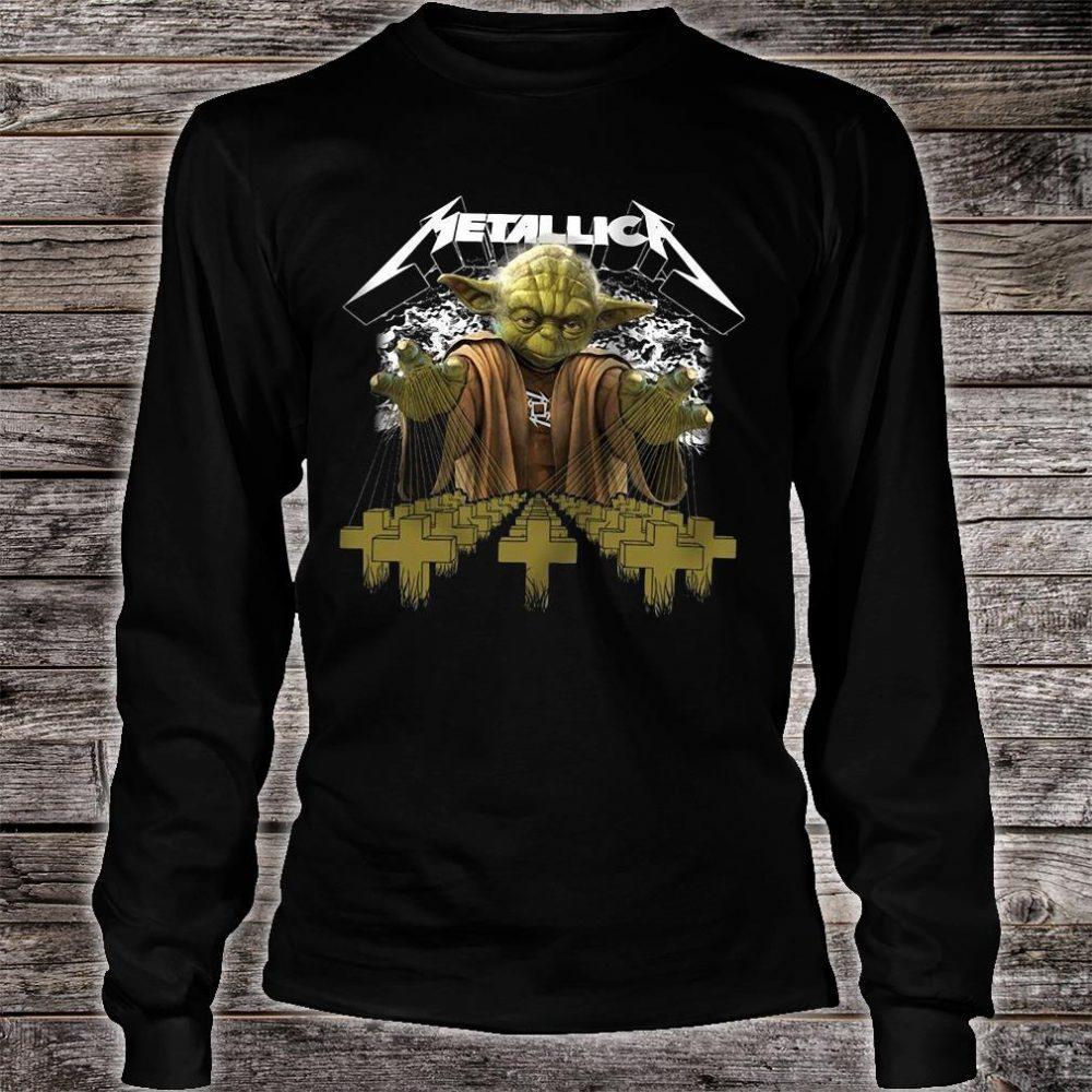 Metallica Yoda Star Wars shirt long sleeved