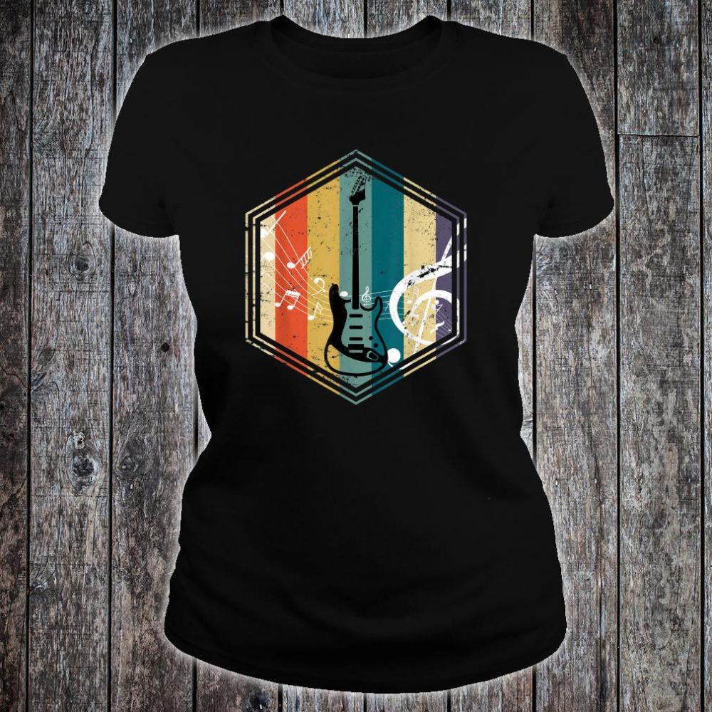 Musical Instrument Retro Bass Guitar Shirt ladies tee