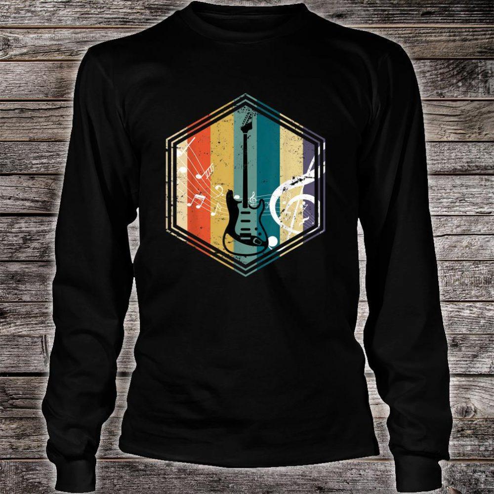 Musical Instrument Retro Bass Guitar Shirt long sleeved