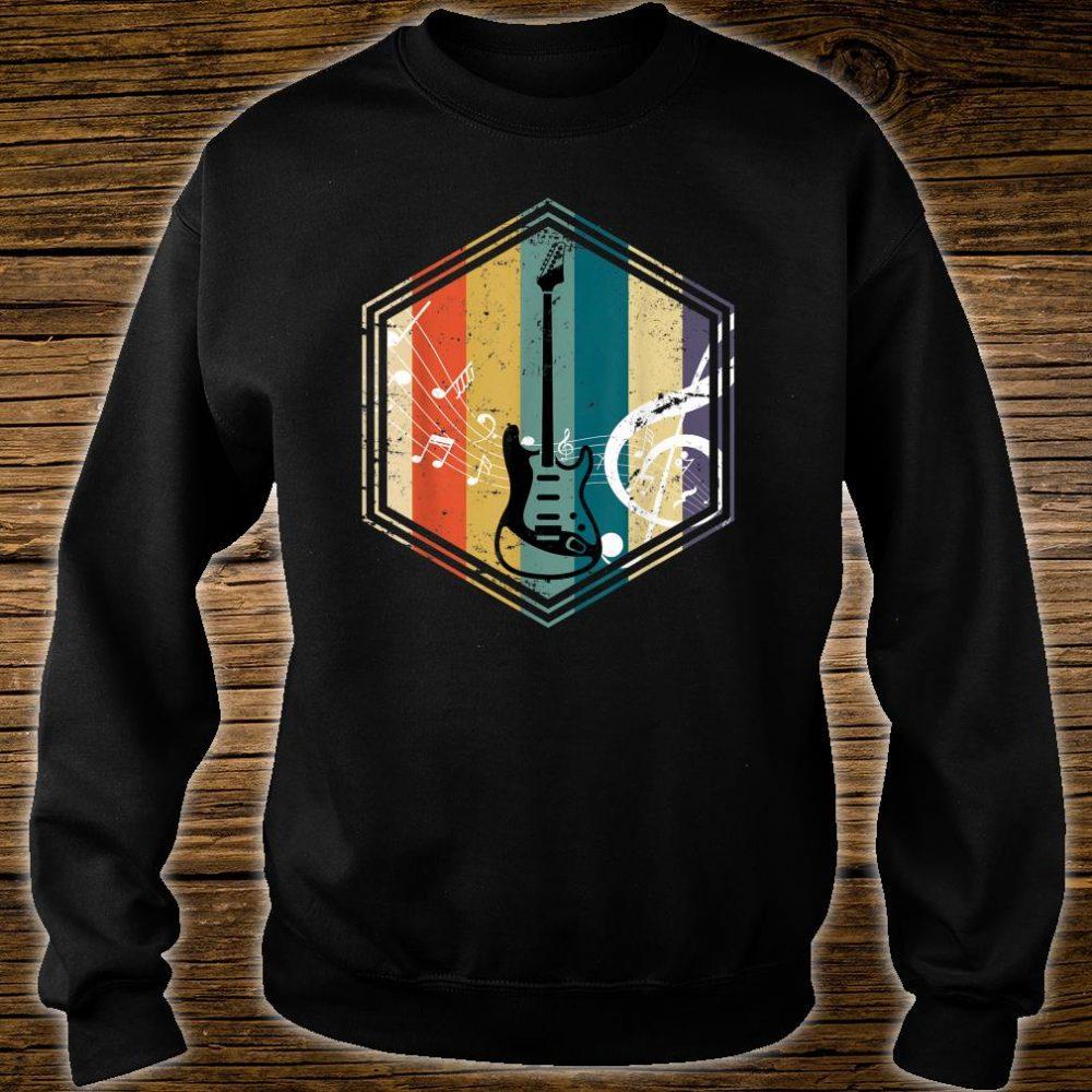 Musical Instrument Retro Bass Guitar Shirt sweater