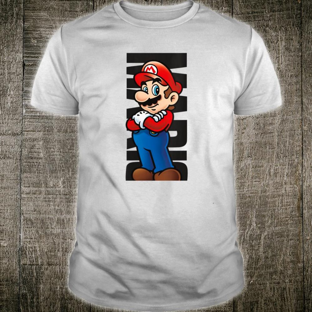 Nintendo Super Mario Posed Name Text Poster Shirt