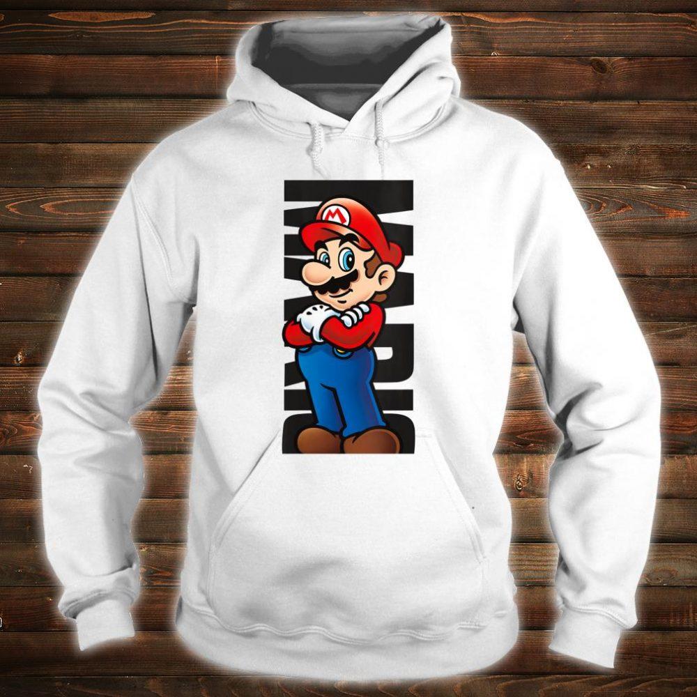 Nintendo Super Mario Posed Name Text Poster Shirt hoodie