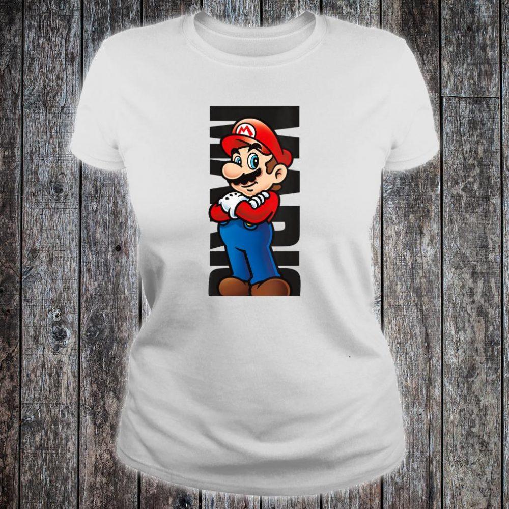 Nintendo Super Mario Posed Name Text Poster Shirt ladies tee