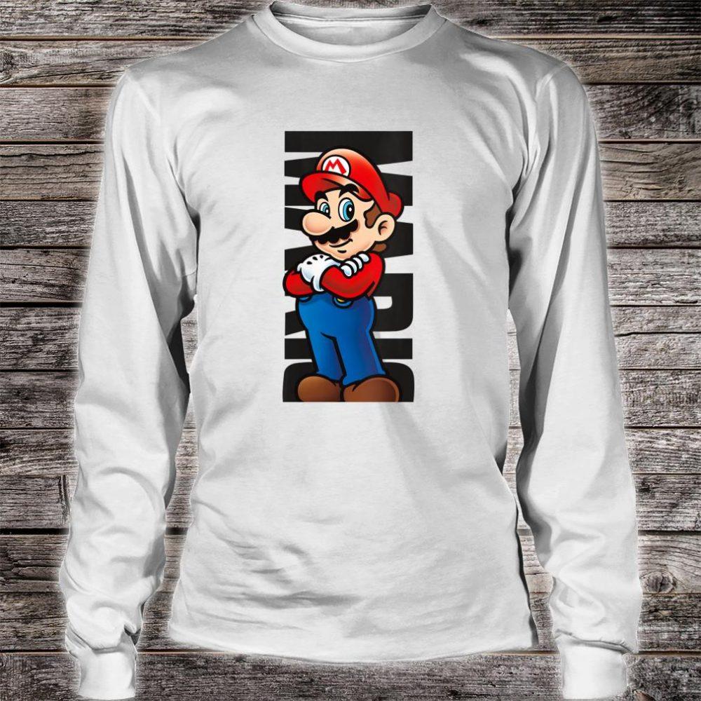 Nintendo Super Mario Posed Name Text Poster Shirt long sleeved