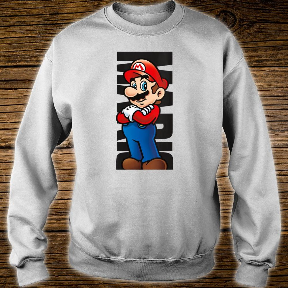 Nintendo Super Mario Posed Name Text Poster Shirt sweater