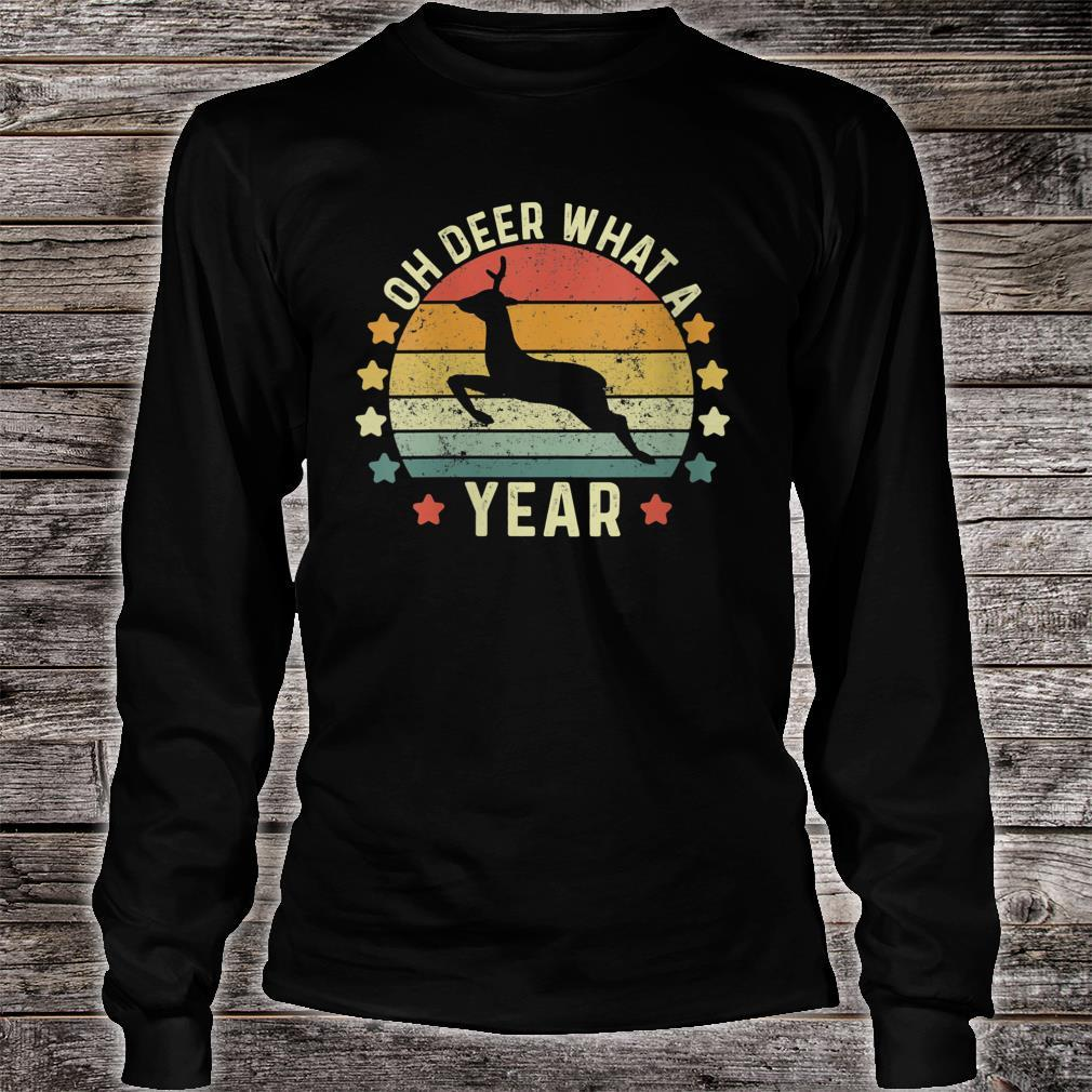 Oh Deer What A Year 2020 Christmas Retro Family Pajama Shirt long sleeved