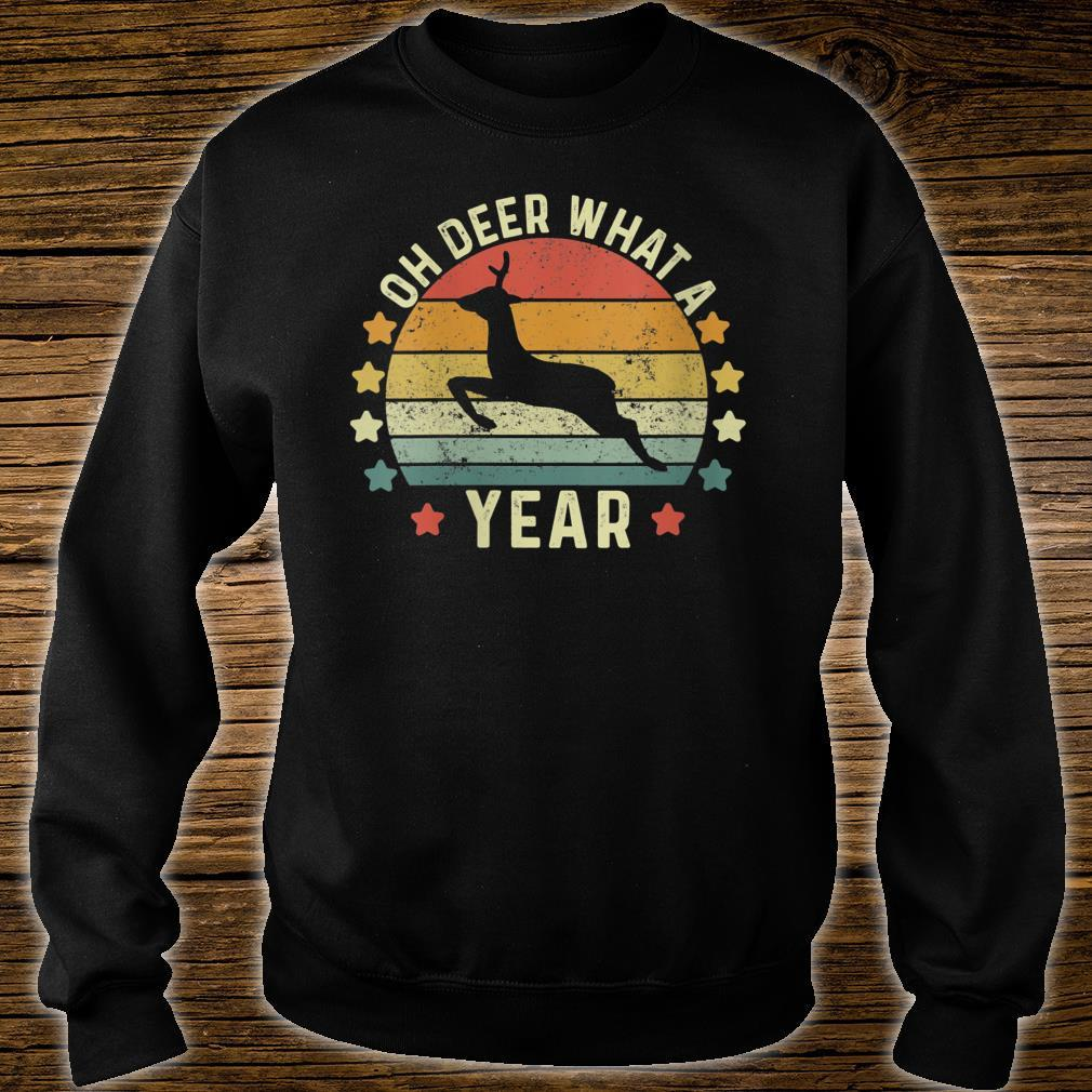 Oh Deer What A Year 2020 Christmas Retro Family Pajama Shirt sweater