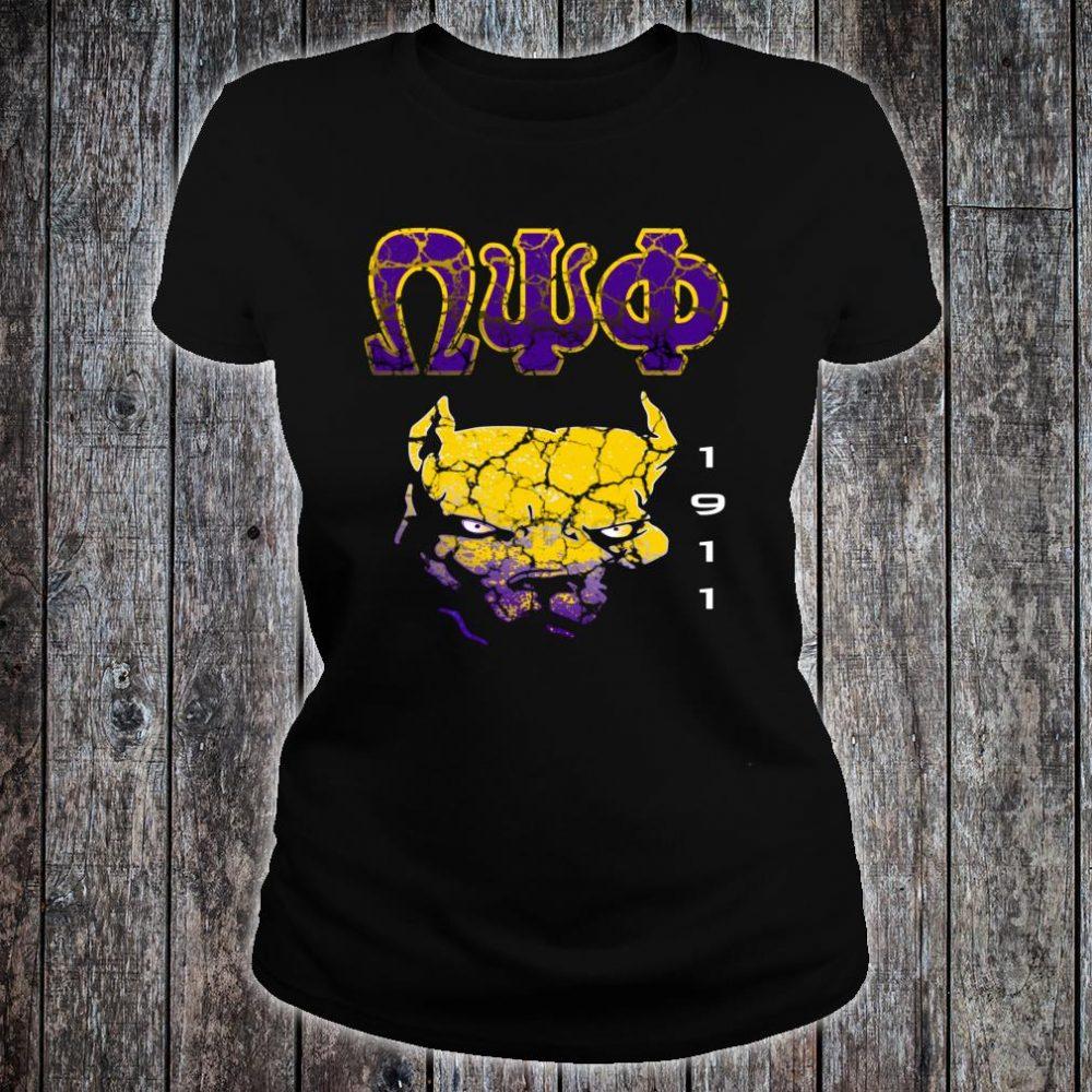 Omega Paraphernalia Psi Phi Que Fraternity Shirt ladies tee