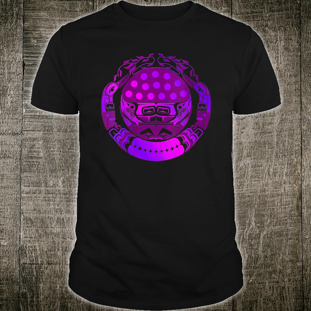 Pacific Northwest Native American Indian Psychedelic Haida Shirt