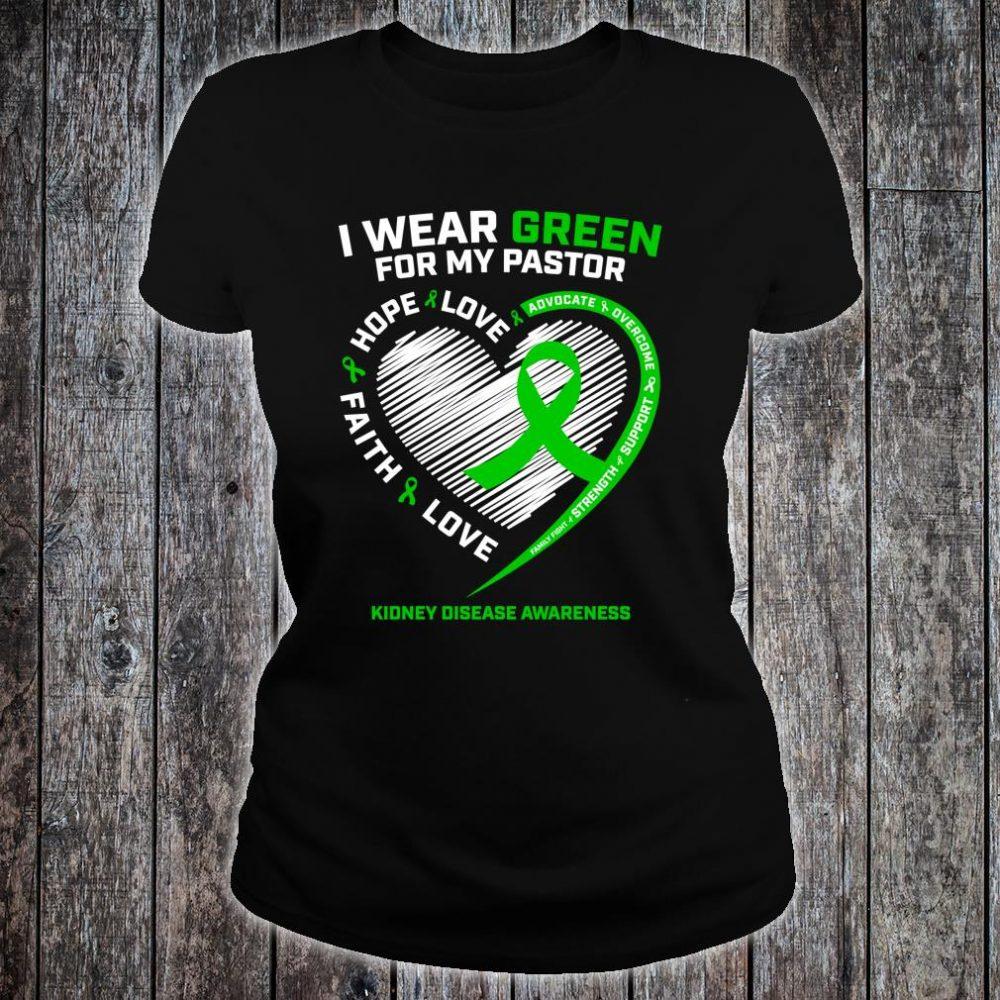Pastor Kidney Disease Shirts ladies tee