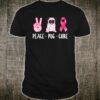 Peace Cure Pug Breast Cancer Awareness Shirt