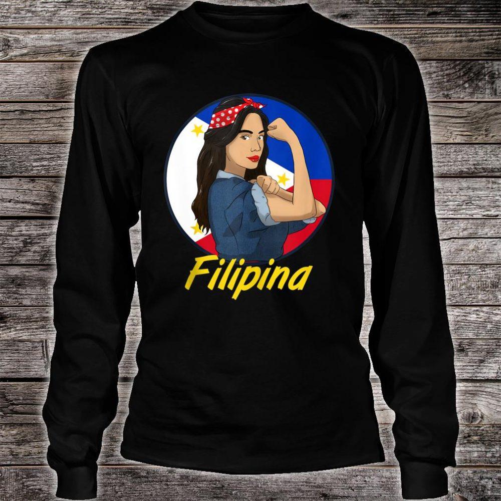 Philippines Pinay Filipina Pride Strong Proud I Shirt long sleeved