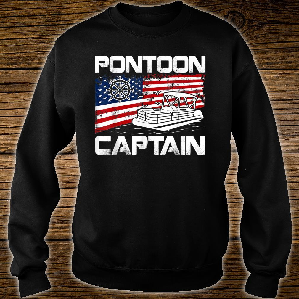 Pontoon Captain American Flag Pontoon Boat Shirt sweater