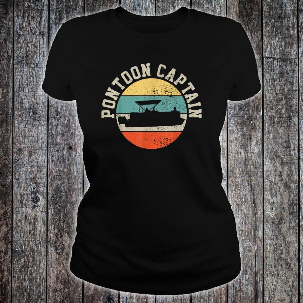 Pontoon Captain Boating Shirt ladies tee
