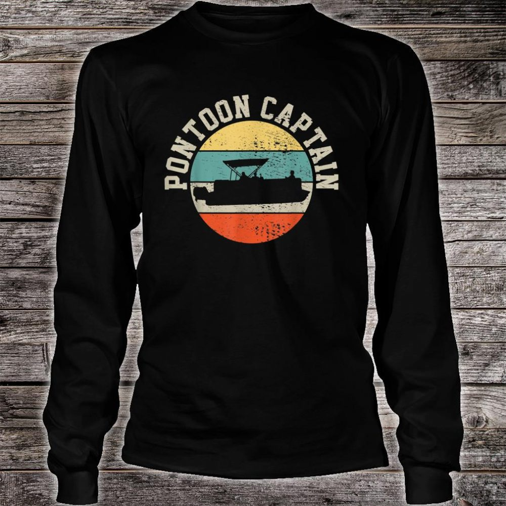 Pontoon Captain Boating Shirt long sleeved