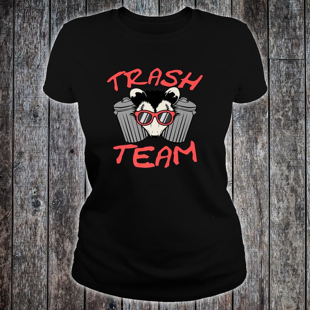 Possum Team Trash Live Ugly Face Your Death Opossum Shirt ladies tee
