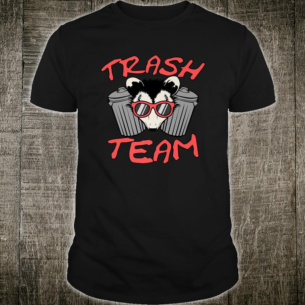 Possum Team Trash Live Ugly Face Your Death Opossum Shirt