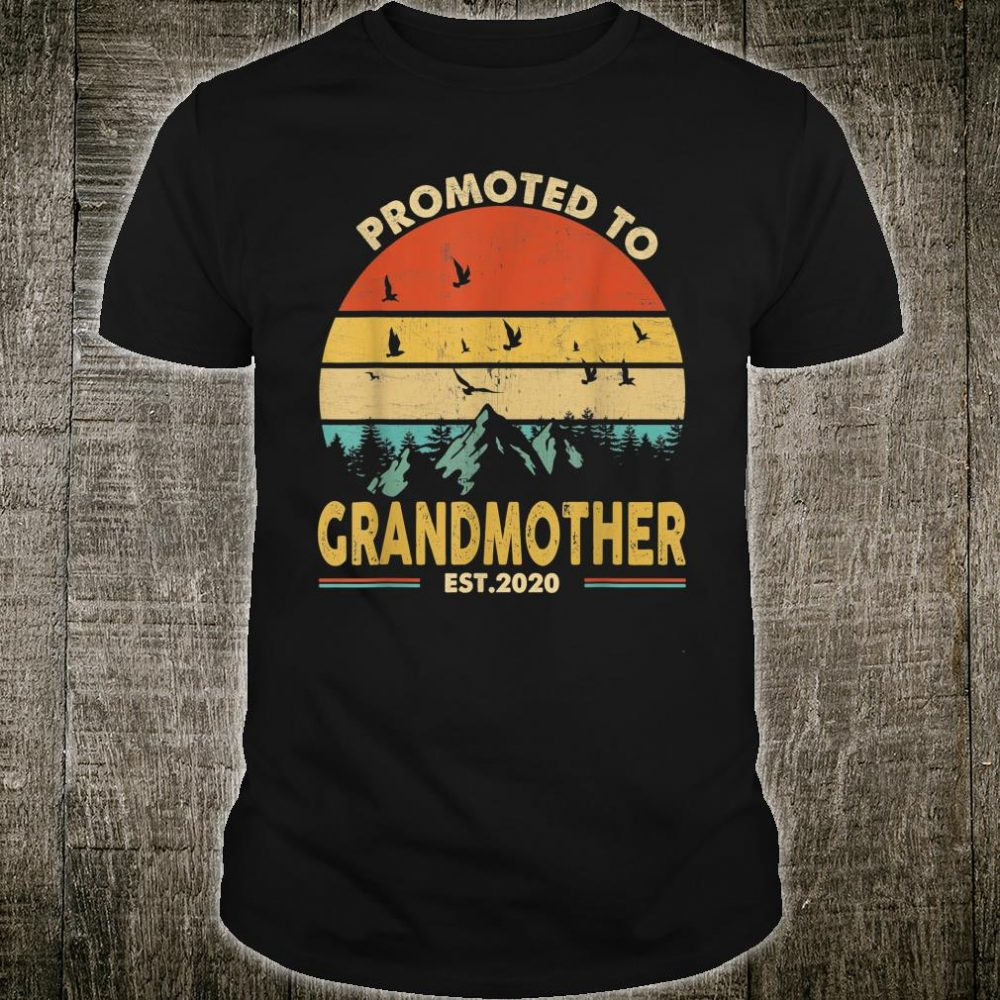 Promoted To Grandmother Est 2020 Shirt