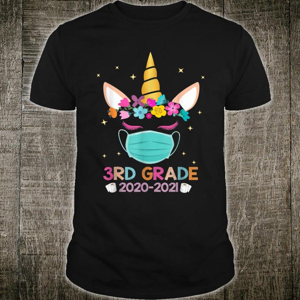 Quarantine Unicorn 3rd Grade 2020 School Social Distance Shirt
