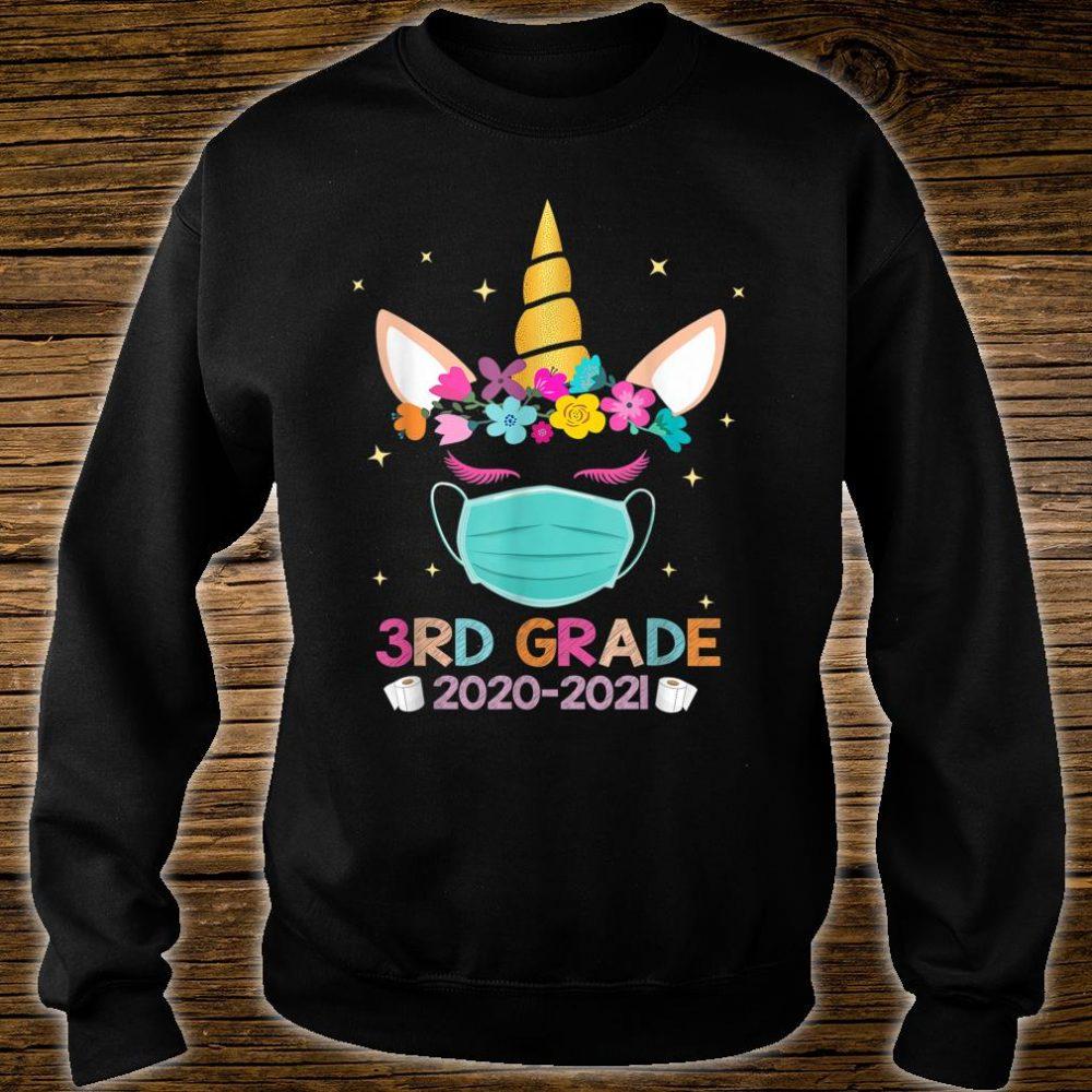 Quarantine Unicorn 3rd Grade 2020 School Social Distance Shirt sweater